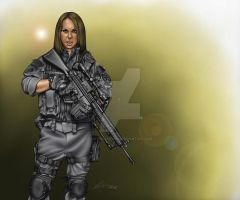 Special Ops Girl by ArtworkByDon