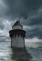 Tower in the sea by IvoryDreamz