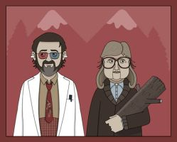 Twin Peaks - Dr. Jacoby and Loglady by Nevski86