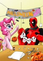 Pinkie and Deadpool Halloween by CIRILIKO