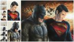 Superman and Batman Copic Marker Process by smlshin