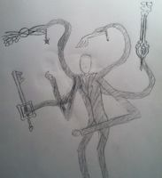 The Keybladed Slenderman by GothicStatic