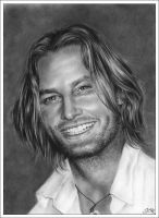 Josh Holloway smiling by Zindy