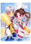 Kagura and Sesshomaru by Sayaka-ssi