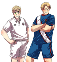 APH: USA vs England by HoneyHamster