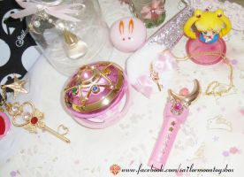 Sailor Moon 20th anniversary Bandai goodies by Bunnymoon-Cosplay