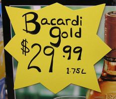 Bacardi Gold sign by celacia