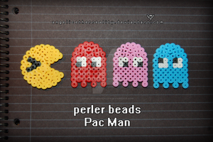 Perler Beads Pac Man set by angelicetherreality