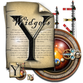 Steampunk Yahoo Widgets Icon by yereverluvinuncleber