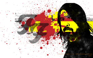 Dave Grohl - Black Yellow Red by Ladymalk