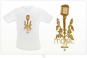 MUSIC OF THE ROOTS - t-shirt by fat3oy