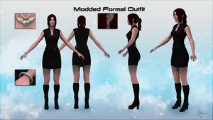 Mass Effect 3 Modded Formal Outfit Alpha Version by KurauAmami