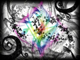 Butterflies Glitter in Rainbow by Curlykutti