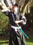 my cosplay of lieutenant Kaien Shiba from Bleach by Acey-kakarot-michael