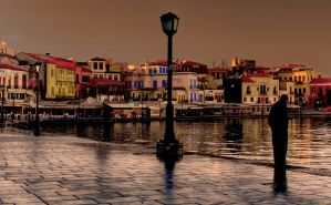 The Chania old port by BillyNikoll