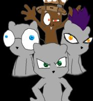 Foamy and the gang by zombiecatfire13