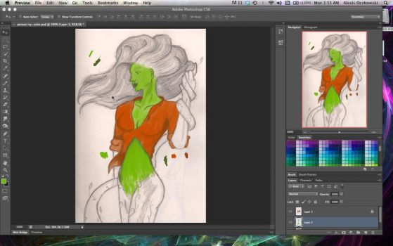 Color Ivy WIP by saixel
