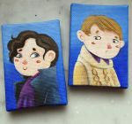 BBC Sherlock and Watson magnet minicanvas *new!* by Nachan