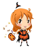 OP: Nami chibi halloween by francielenfortes