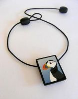 Puffin necklace by OriginalBunny