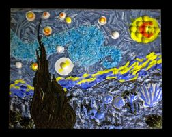 Starry Night Texture Collage by BlindFaeth