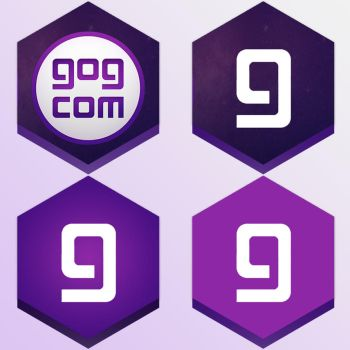 4 GOG Galaxy Honeycomb buttons by Daoneandonlystevy
