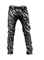 Tiger Of London Zebra Pattern BDSM Pants by crowhitewolf