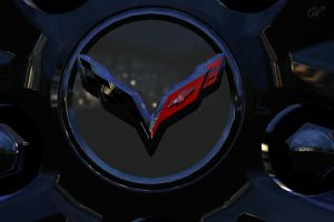 Corvette Stingray Wheel Badge by Drift-Queen7