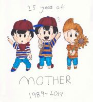 25 Years of Mother by Link-Pikachu
