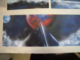 Spray paint Space art 1 by THEBIONICBOI