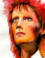 David Bowie - Mixed Media by BowieKelly
