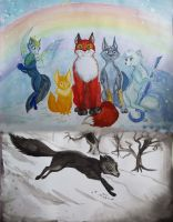 RoTG foxes by TiElGar