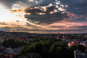 Above a little german town by McGoe