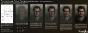 Painting Male Facial Features by MelissaFindley