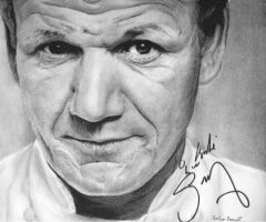 Gordon Ramsay Portrait (Signed) by Kaleo-B