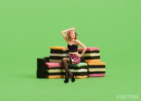 Licorice Allsorts Pin-up by shanna-jones