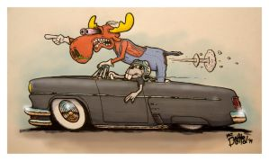 Rocky and Bullwinkle by MrDedHed
