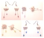 Handmade rainy clouds earrings by MiniSweetx