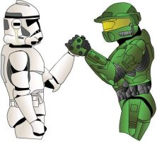Star Wars VS. Halo by TheMinx