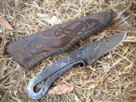 Damascus blacksmith's knife by hellize