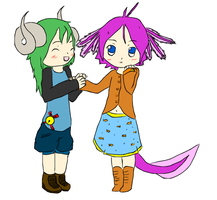Zelle and Rina by ColdBlod23