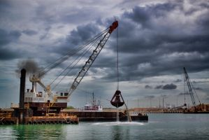 Dredging Port Canaveral by TomFawls