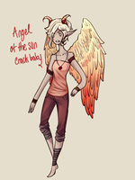 Angel of the Sun, first of the babies by MythsandMonsters