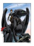Hiccup and Toothless by DanielGovar