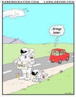Hitchhiking Astronaut cartoon by Conservatoons