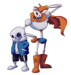 Sans and Papyrus -UNDERTALE- by Typhloser