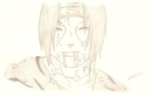 Itachi last smile by D-Shadowz
