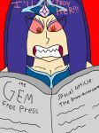 Crystalis seeing her private diary on newspaper... by Jayman239