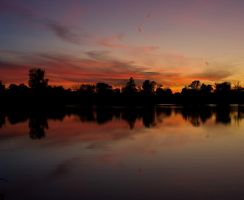 Lake at nightfall by Roland3791