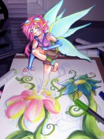 RAINBOW-BARF FAIRY by SirPrinceCharming